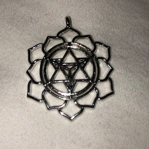 Merkaba Lotus Petal sacred geometry pendant